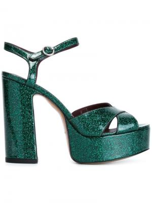 Босоножки Debbie Marc Jacobs. Цвет: зелёный