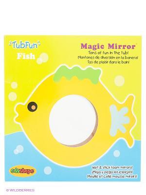 Зеркало для ванны Рыбка ERPA. Цвет: желтый