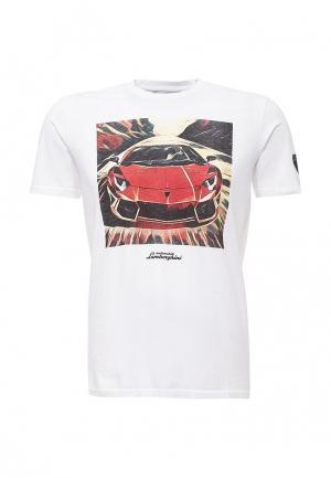 Футболка Automobili Lamborghini. Цвет: белый