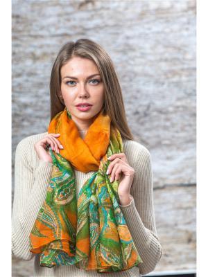 Палантин Krife. Цвет: оранжевый,зеленый