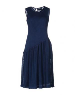 Платье до колена BLUE JAPAN. Цвет: темно-синий