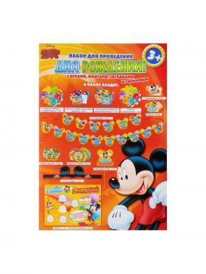 Набор для Дня Рождения, Микки-Маус Disney. Цвет: черный, коралловый, оранжевый