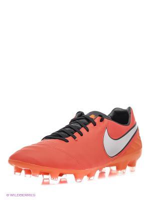 Бутсы TIEMPO LEGACY II FG Nike. Цвет: красный, оранжевый