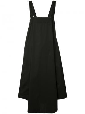 Платье с завязками на спинке Trina Turk. Цвет: чёрный