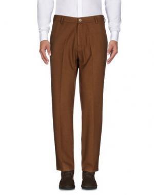 Повседневные брюки 26.7 TWENTYSIXSEVEN. Цвет: коричневый