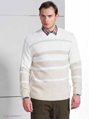 Джемпер ALF SPORT. Цвет: белый, светло-бежевый