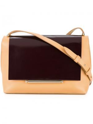 Двухцветная сумка на плечо Delpozo. Цвет: жёлтый и оранжевый