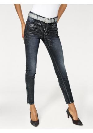 Моделирующие джинсы Ashley Brooke. Цвет: синий деним, черный деним