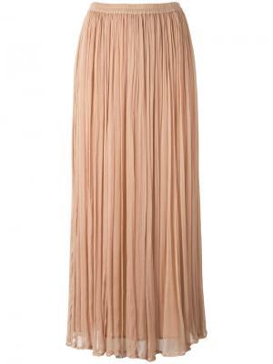 Длинная юбка плиссе Mes Demoiselles. Цвет: телесный