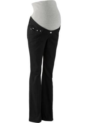 Мода для беременных: брюки Bootcut, cредний рост (N) (черный) bonprix. Цвет: черный