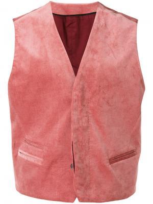 Классический жилет Haider Ackermann. Цвет: розовый и фиолетовый