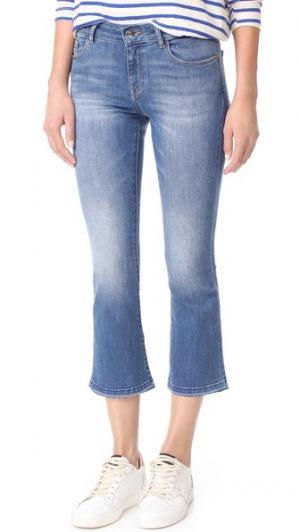 Укороченные расклешенные джинсы Lara Instasculpt DL1961. Цвет: crown