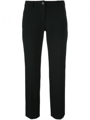 Классические укороченные брюки Versace Collection. Цвет: чёрный