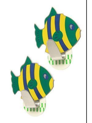 Крючки Рыбки DAVANA. Цвет: зеленый, желтый