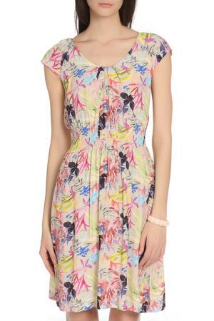 Летнее платье с яркими узорами BGN. Цвет: multicolor