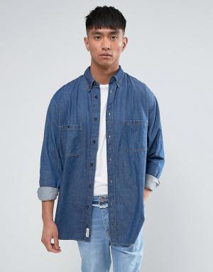 Cheap Monday Синяя джинсовая рубашка. Цвет: синий