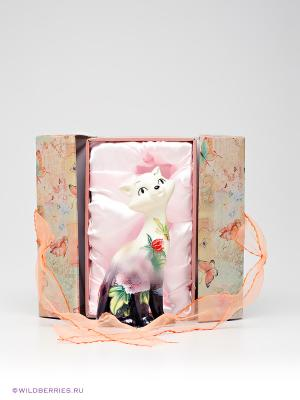 Фигурка Кошка Pavone. Цвет: белый, зеленый, фиолетовый