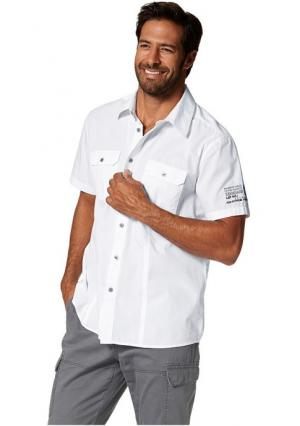 Рубашка MANS WORLD MAN'S. Цвет: белый, черный