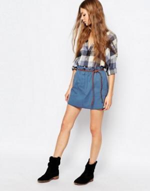 Vanessa Bruno Athé Синяя мини-юбка Athe. Цвет: синий