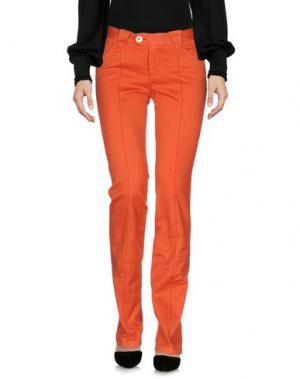 Повседневные брюки BARBA Napoli. Цвет: оранжевый