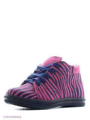 Ботинки Котофей. Цвет: синий, фуксия