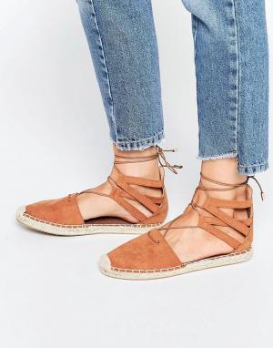 Head Over Heels Светло-коричневые эспадрильи By Dune. Цвет: рыжий