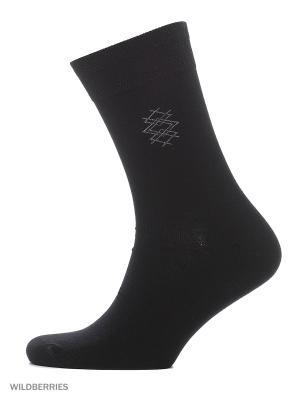 Классические носки с кетельным швом(2 пары) HOSIERY. Цвет: черный