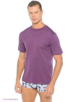 Футболка Comazo. Цвет: темно-фиолетовый