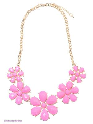 Колье Lovely Jewelry. Цвет: золотистый, розовый