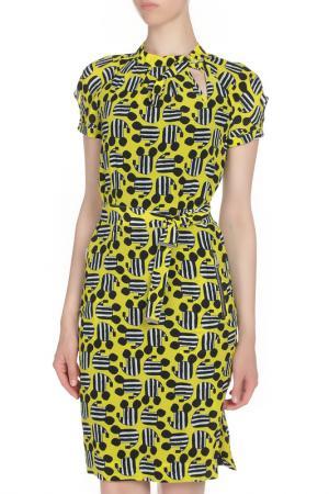 Полуприлегающее платье с поясом JC de Castelbajac. Цвет: цветной