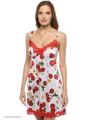 Сорочка ночная Belweiss. Цвет: молочный, бледно-розовый, красный, желтый, зеленый