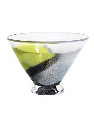Twister Чаша GREEN SMALL Kosta Boda. Цвет: зеленый