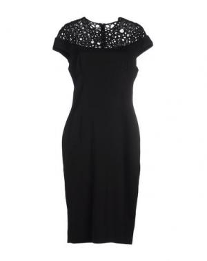 Платье до колена LELA ROSE. Цвет: черный