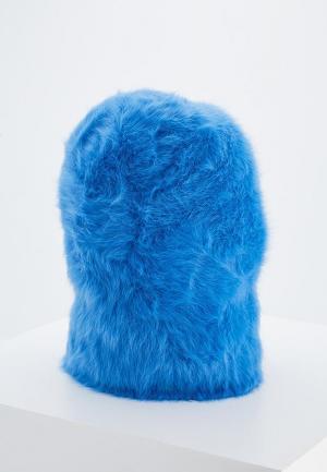 Шапка Coccinelle. Цвет: голубой
