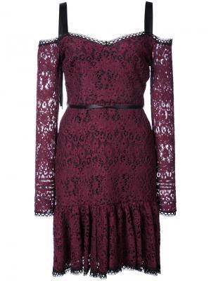 Кружевное платье Alexis. Цвет: розовый и фиолетовый