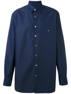 Рубашка Portrait Études. Цвет: синий