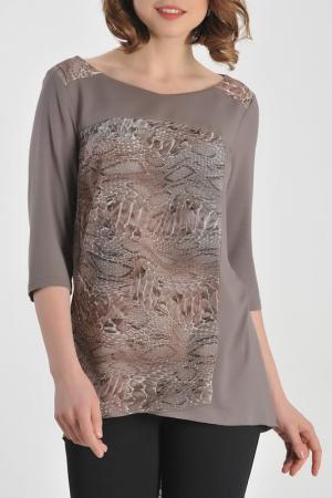 Туника M&L Collection. Цвет: коричневый