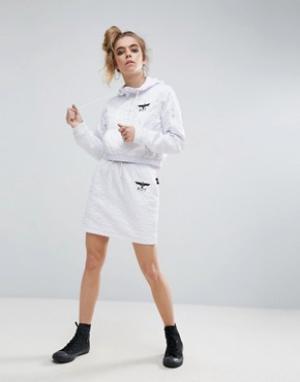 BOY London Стеганая юбка с молниями. Цвет: белый