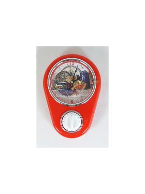 Кухонные настенные часы Натюрморт Magic Home. Цвет: белый