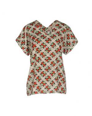 Блузка ANONYME DESIGNERS. Цвет: бежевый