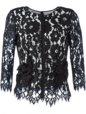 Кружевная блузка с цветочным узором Marc Jacobs. Цвет: чёрный
