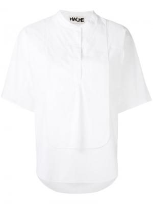 Многослойная блузка Hache. Цвет: белый