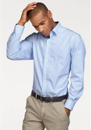 Рубашка Class International. Цвет: голубой/белый в полоску