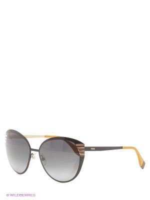 Солнцезащитные очки FENDI. Цвет: черный, оранжевый
