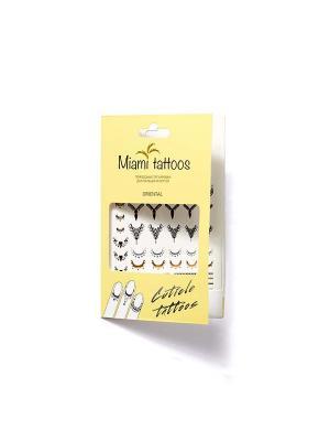 Флэш тату для пальцев и ногтей Miami Tattoos Oriental  1 лист 10см*15см. Цвет: черный
