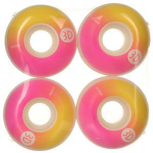 Колеса для скейтборда  Logo Gradient 98A 50 mm 3D. Цвет: желтый,белый,розовый