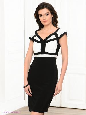 Платье BIRRIN. Цвет: черный, белый