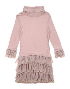 Платье ILLUDIA. Цвет: светло-коричневый