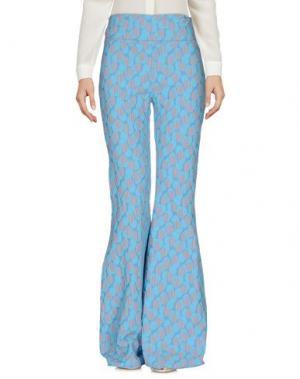 Повседневные брюки SUCRETTE. Цвет: небесно-голубой