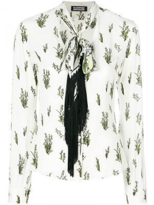 Рубашка с цветочным принтом Rockins. Цвет: телесный